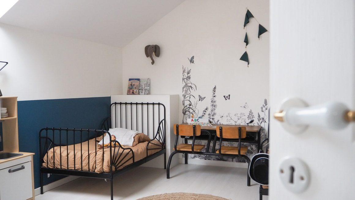 Une chambre à la déco «jungle» pour 2 garçons